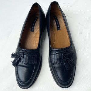 Magnanni Black Leather Loafers 9.5